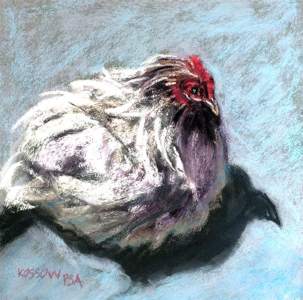"""Funky Chicken VI"" original fine art by Cristine Kossow"