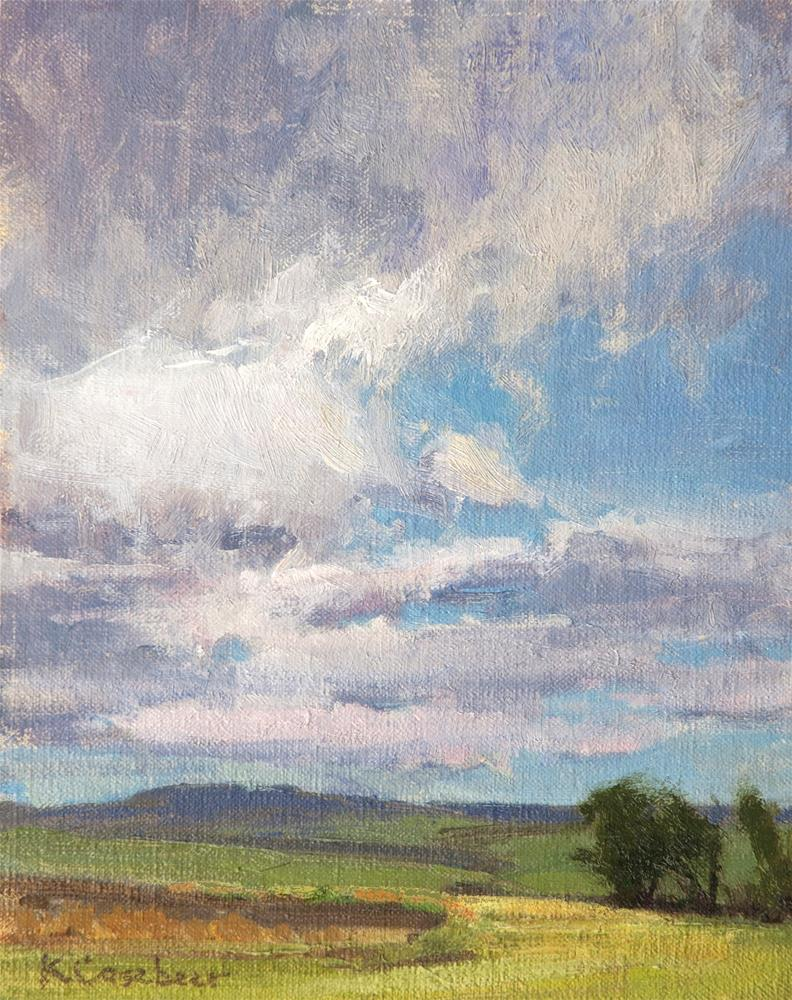 """Spring Clouds"" original fine art by Kim Casebeer"