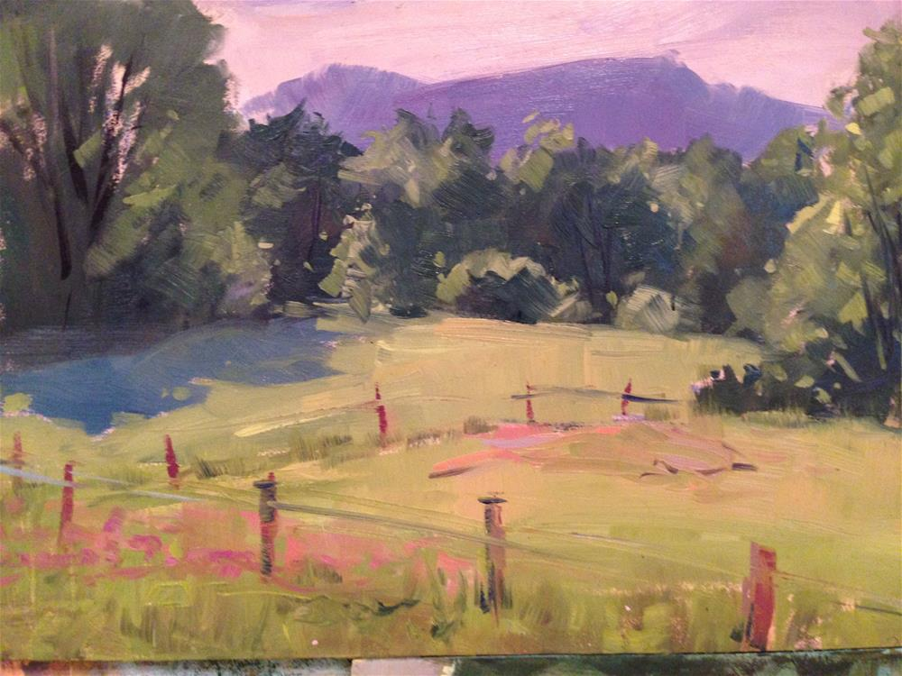 """#107 New Hampshire Pasture"" original fine art by Patty Voje"