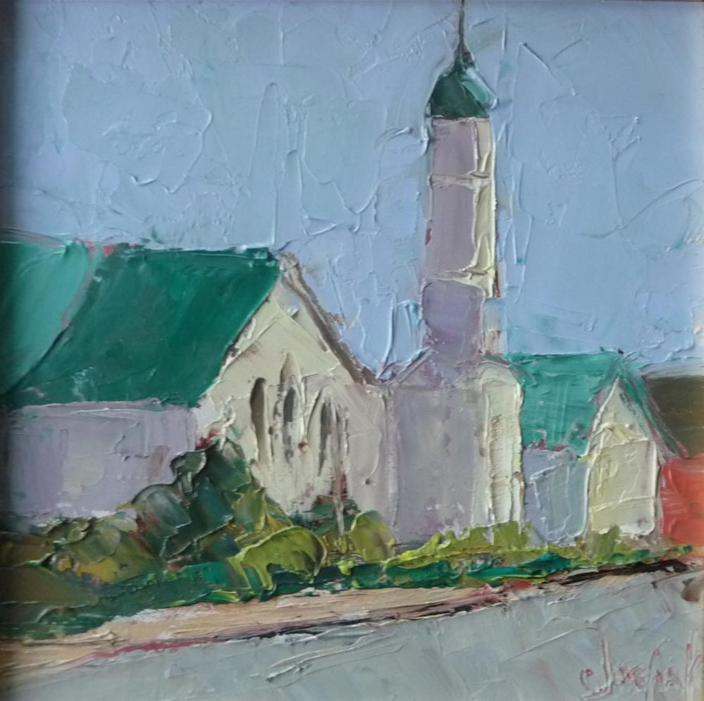 """Courthouse"" original fine art by Carol Josefiak"