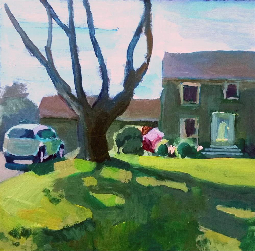 """A Morning in Trumbull, CT"" original fine art by Liz Maynes"