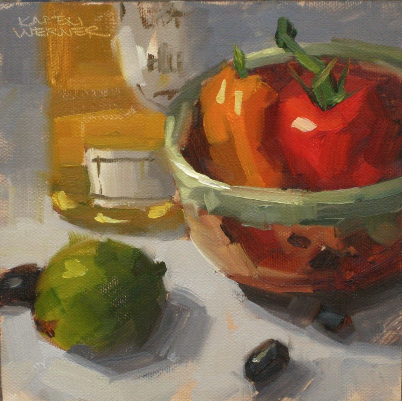 """Debbie's Bowl"" original fine art by Karen Werner"