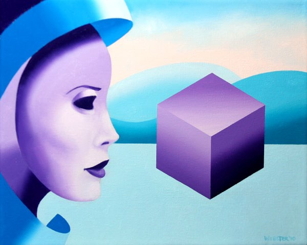 """Mark Webster - Mask Cubed - Abstract Oil and Acrylic (Mixed Media) Painting"" original fine art by Mark Webster"