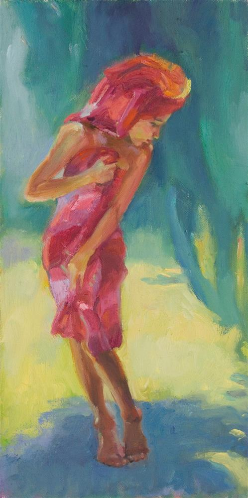 """It Tickled My Toes"" original fine art by Julie Snyder"