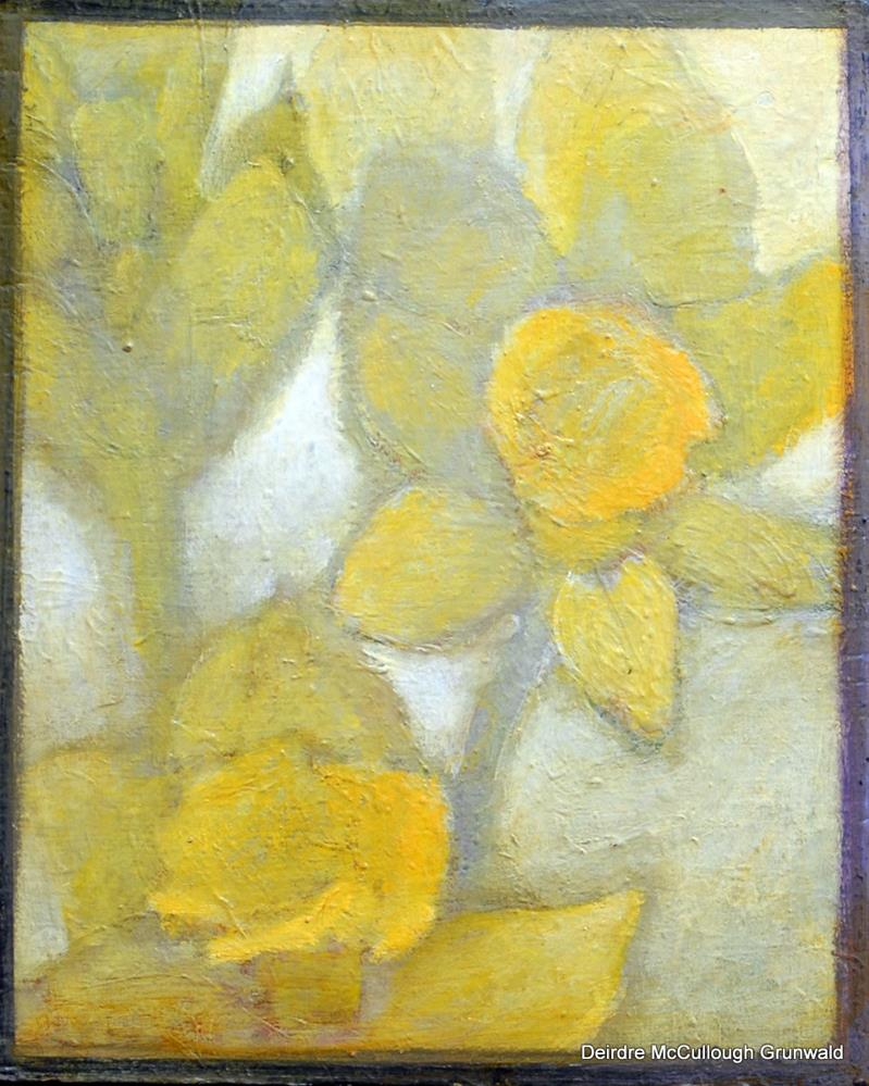 """Two Daffodils"" original fine art by Deirdre McCullough Grunwald"