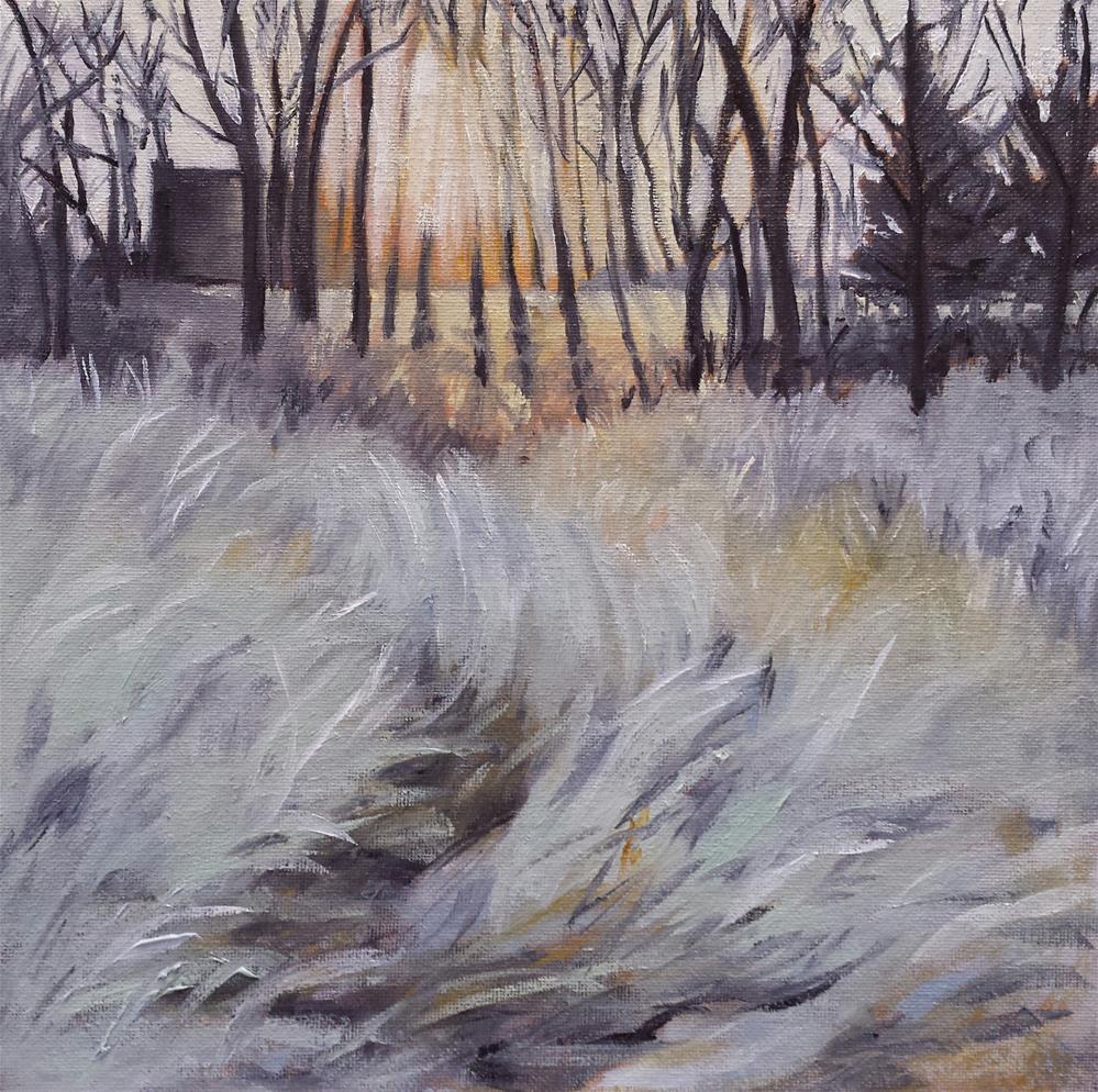 """Morning Frost"" original fine art by Judith Fletcher"