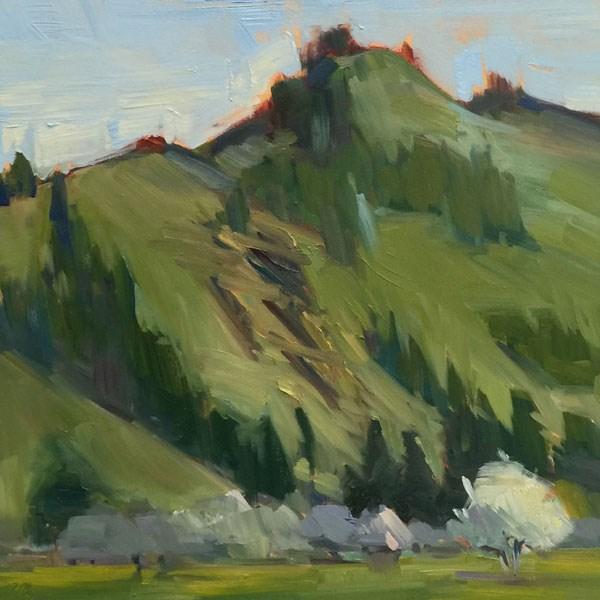 """""""A pleasant hill in Pleasant Hill, Oregon"""" original fine art by Patti McNutt"""
