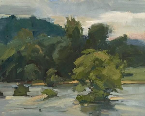 """Willamette River Excitement"" original fine art by Patti McNutt"