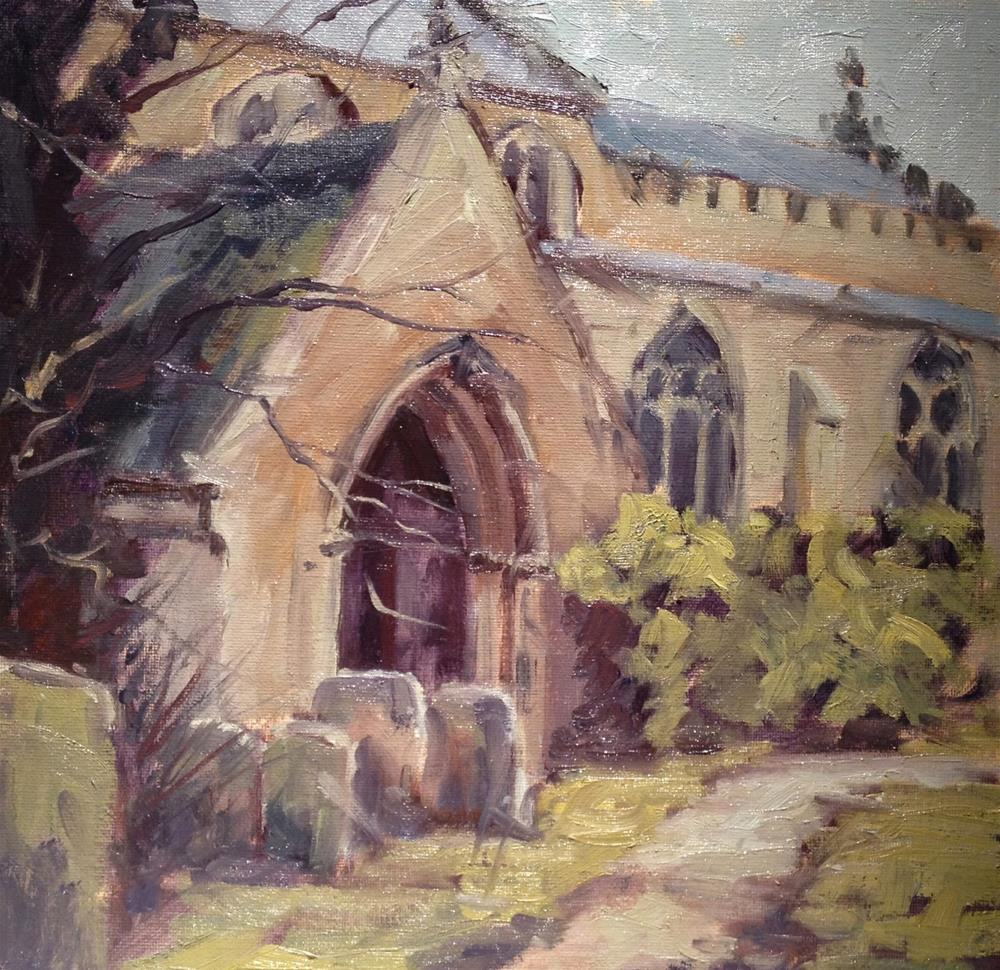 """Church Doorway"" original fine art by Mo Teeuw"