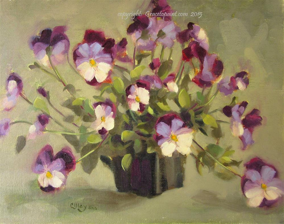 """""""Pansy Panoply"""" original fine art by Maresa Lilley"""