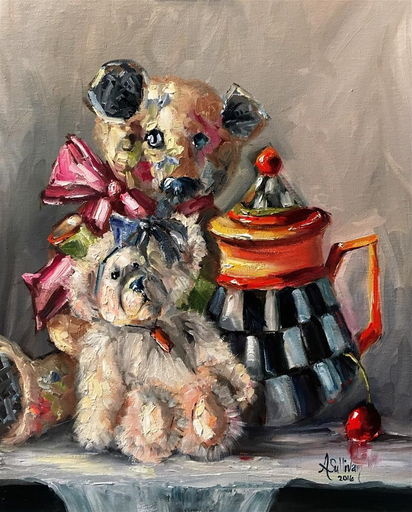 """Big Sister Still Life painting by Alabama Artist Angela Sullivan"" original fine art by Angela Sullivan"