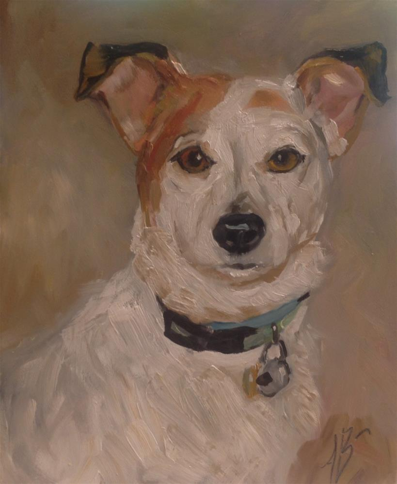 """Portrait of Lulu"" original fine art by Annette Balesteri"