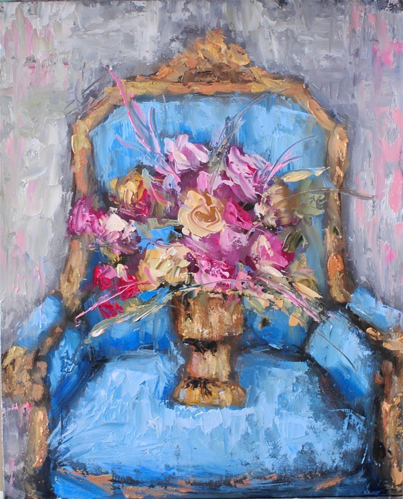 """French Blue"" original fine art by Kelly Berkey"