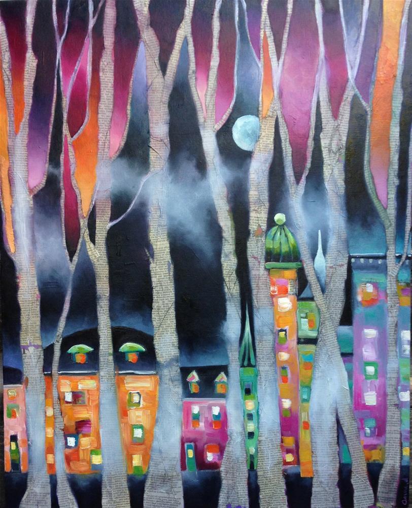 """It was on Halloween night..."" original fine art by Anne Ducrot"