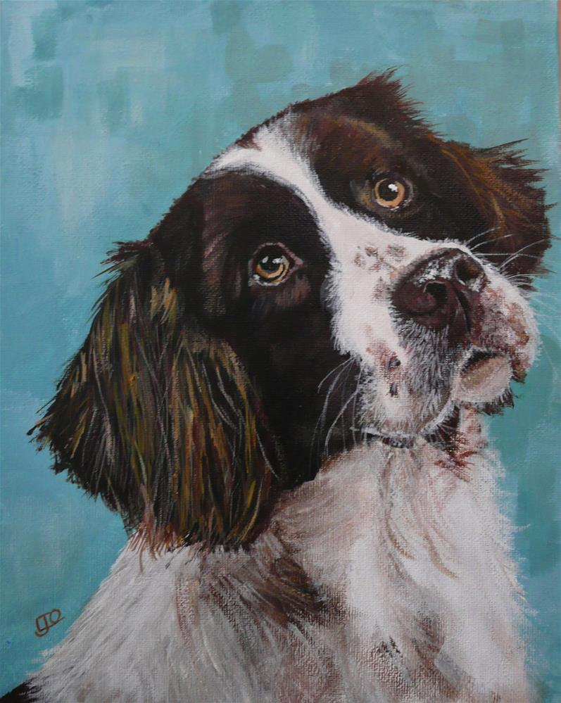 """Walkies"" original fine art by Leanne Owen"