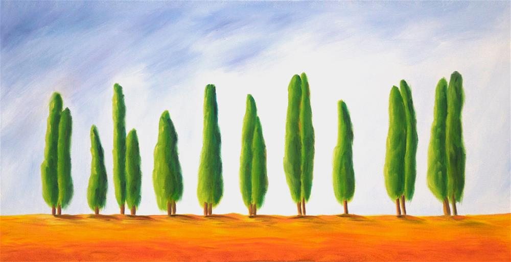 """Row of Trees"" original fine art by Susan Bertocci"