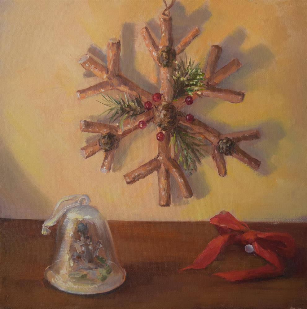 """""""Christmas"""" original fine art by Jingyi Wang"""