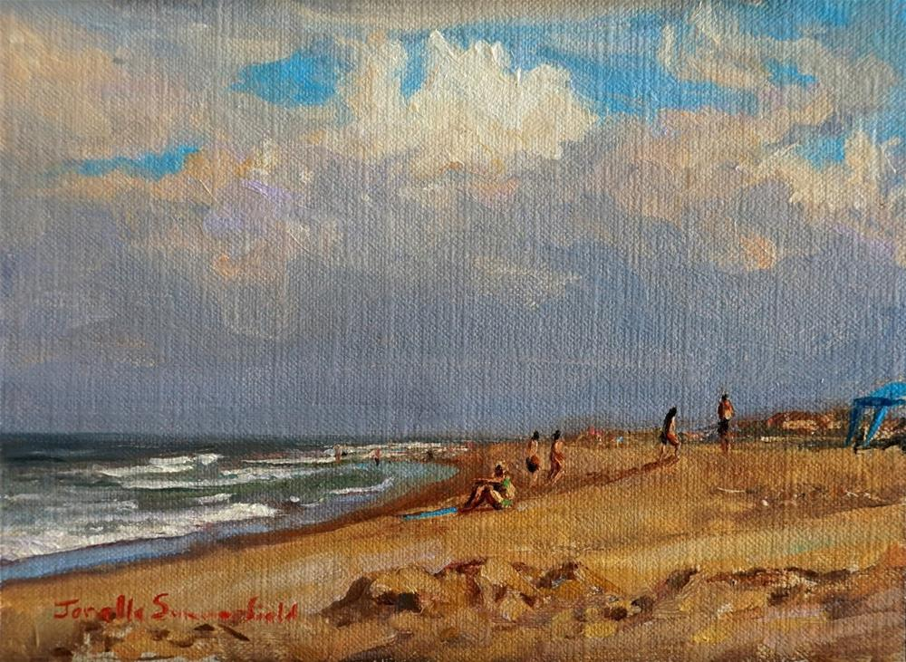 """Afternoon at Sandbridge IV"" original fine art by Jonelle Summerfield"