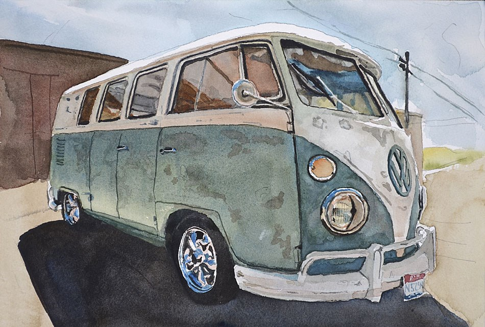 """Roadtrip Ready"" original fine art by Andy Sewell"