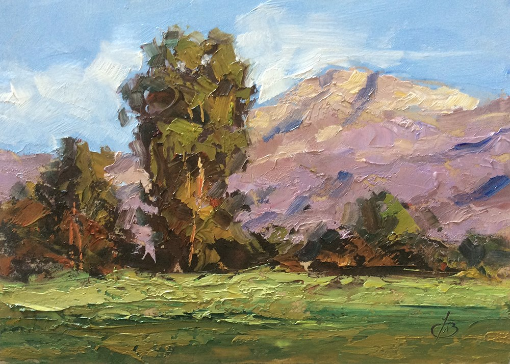 """CALIFORNIA PLEIN AIR VISTA"" original fine art by Tom Brown"