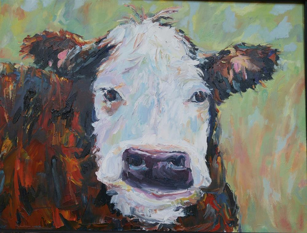 """MIss Moo"" original fine art by angela scully"