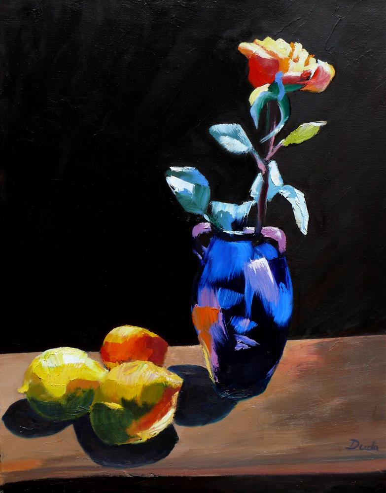 """Kiss the Light"" original fine art by Susan Duda"