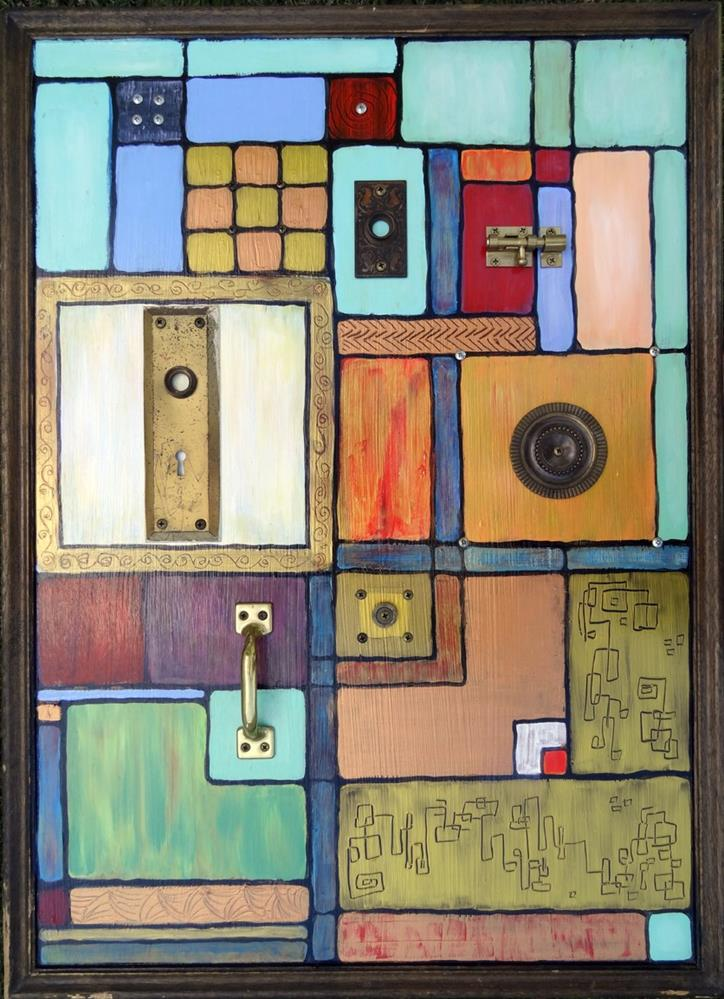 """THIS OLD BAUHAUS 1"" original fine art by Ande Hall"