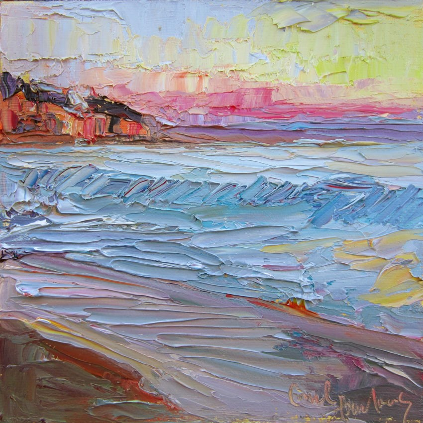 """Laguna Sunset 2"" original fine art by Carol Steinberg"