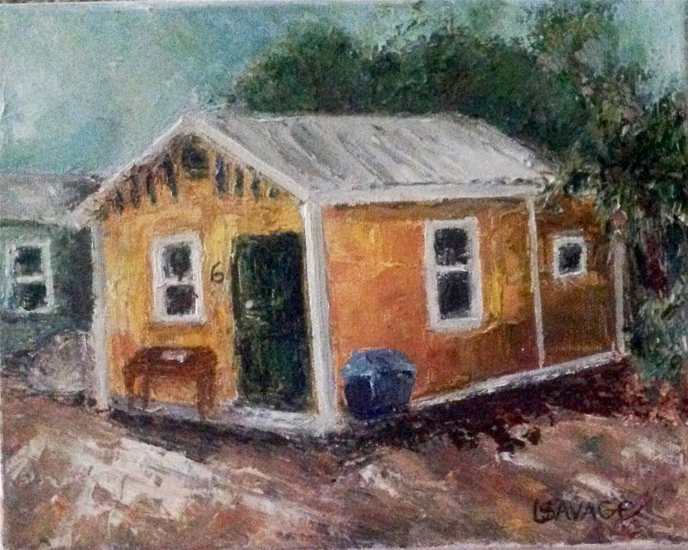 """The Green Door"" original fine art by Judy Usavage"