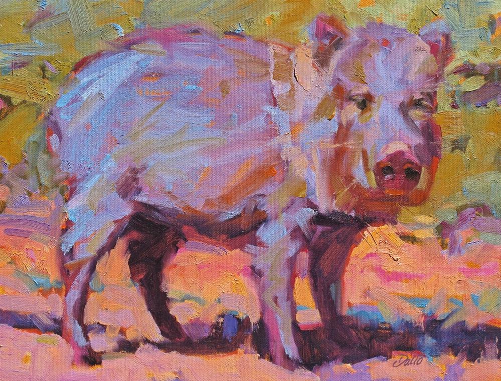 """Sedona Javelina"" original fine art by Carl Dalio"