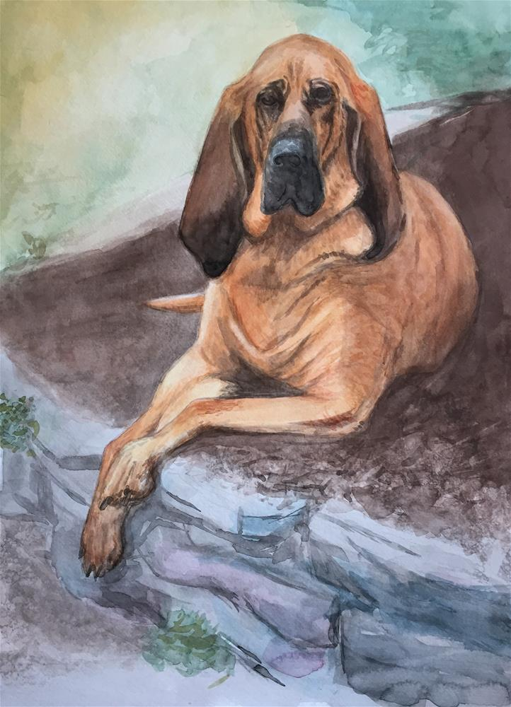"""Maggie"" original fine art by Cindy McDonough"
