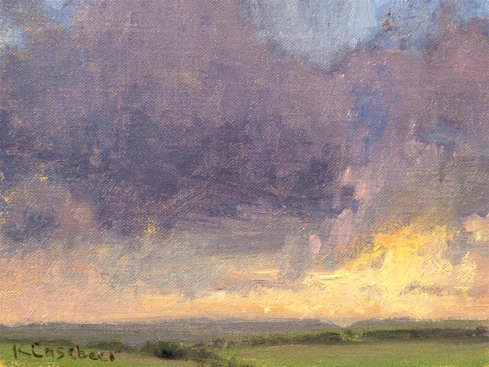 """Rain Cloud"" original fine art by Kim Casebeer"
