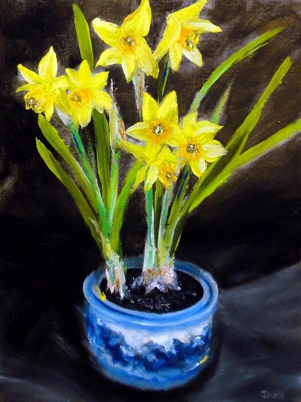 """Springs First Daffodils"" original fine art by Dalan Wells"