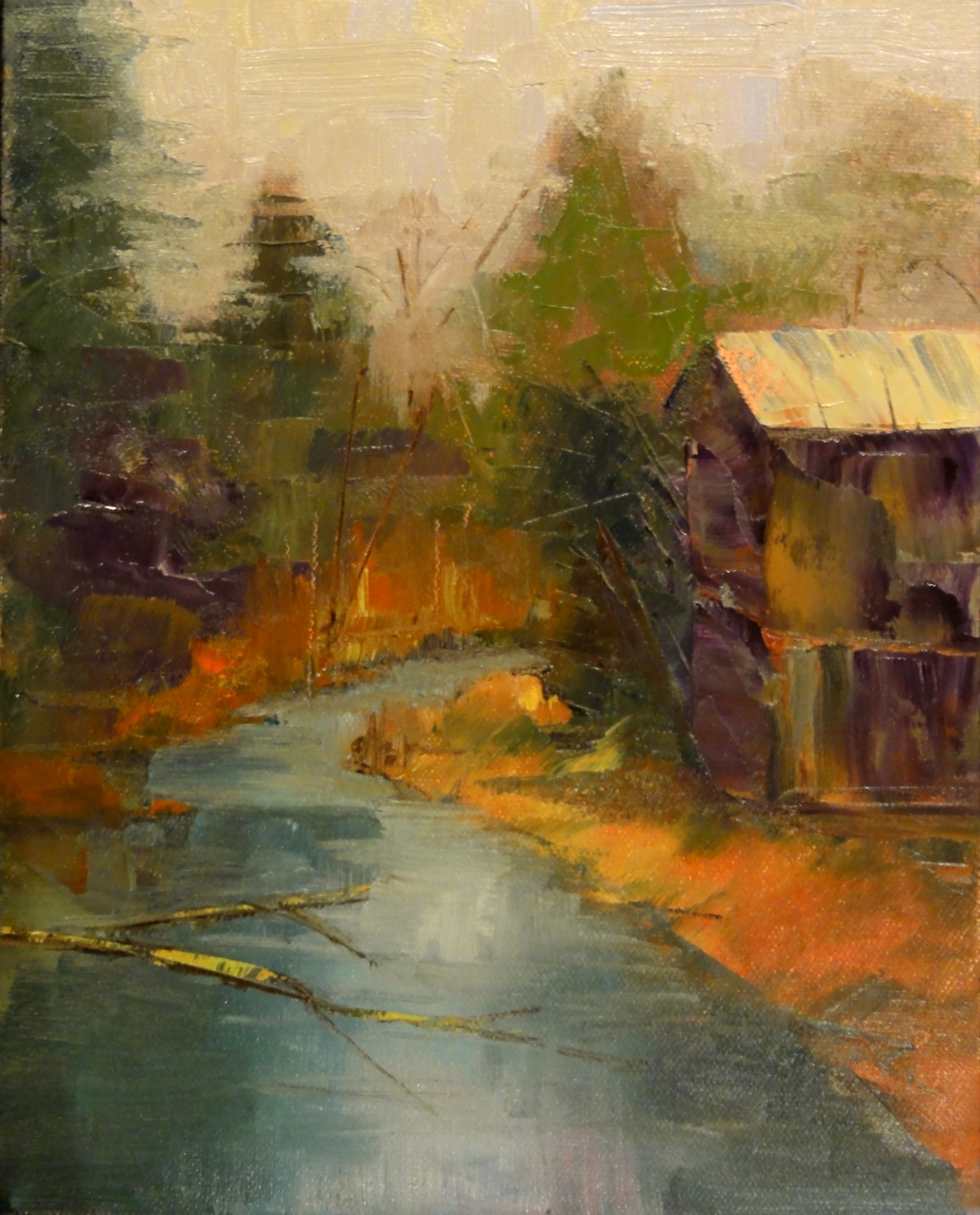 """The Old Mill"" original fine art by Ann Feldman"