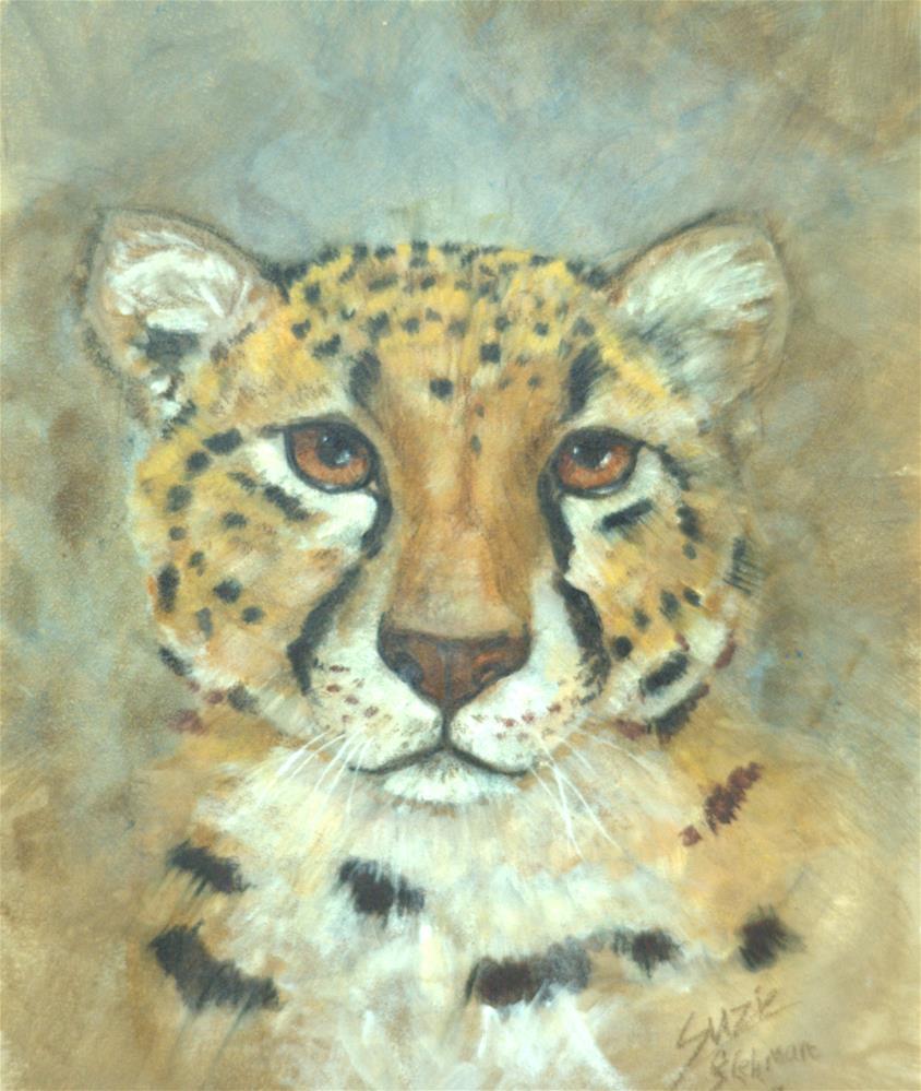 """Cheetah"" original fine art by Carla Ridener"
