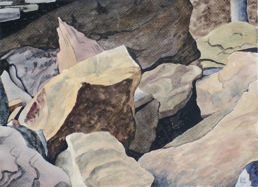 """Breaks Park Rocks"" original fine art by Greg Arens"