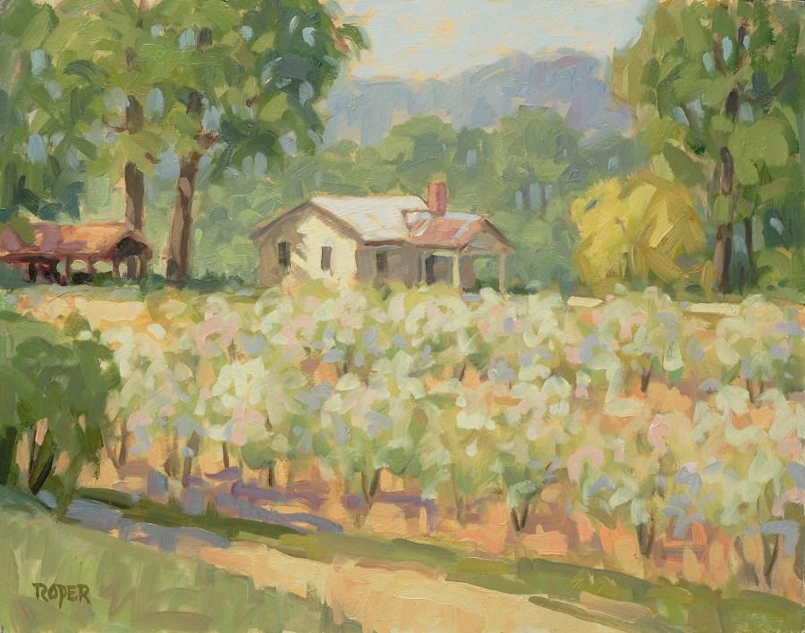 """DAY 20: The Apple House"" original fine art by Stuart Roper"