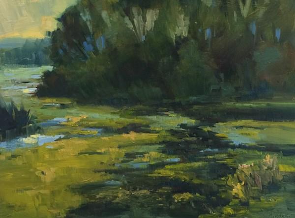 """Nisqually Wildlife Greens"" original fine art by Patti McNutt"