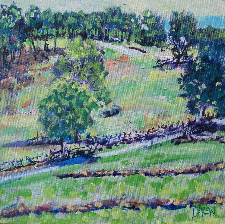 """View From Cemetery Hill by Larry Lerew 120625"" original fine art by Larry Lerew"