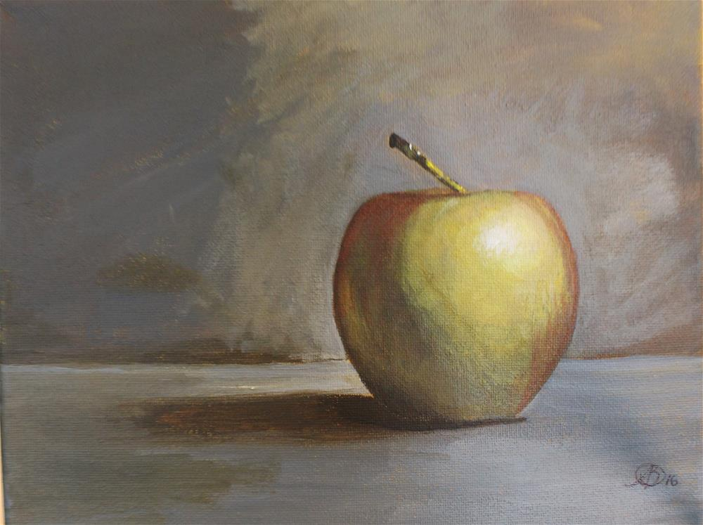 """An apple a day"" original fine art by Amy DeLand"