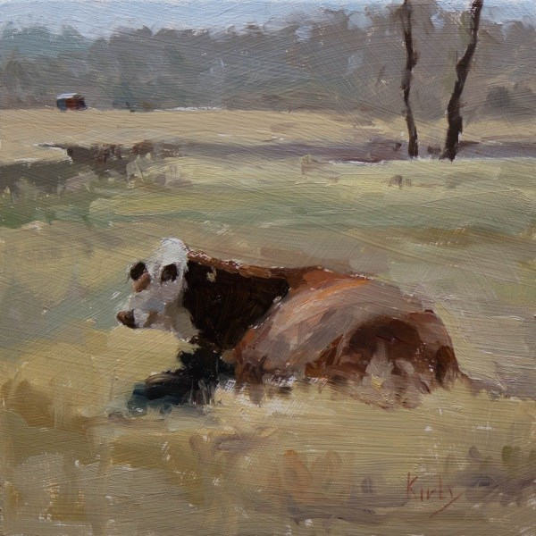 """Mom and Calf"" original fine art by Randall Cogburn"