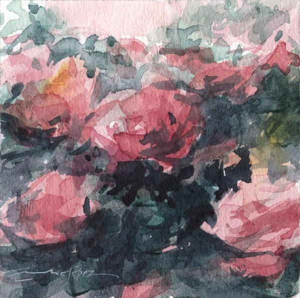 """""""flores 12"""" original fine art by Emilio López"""