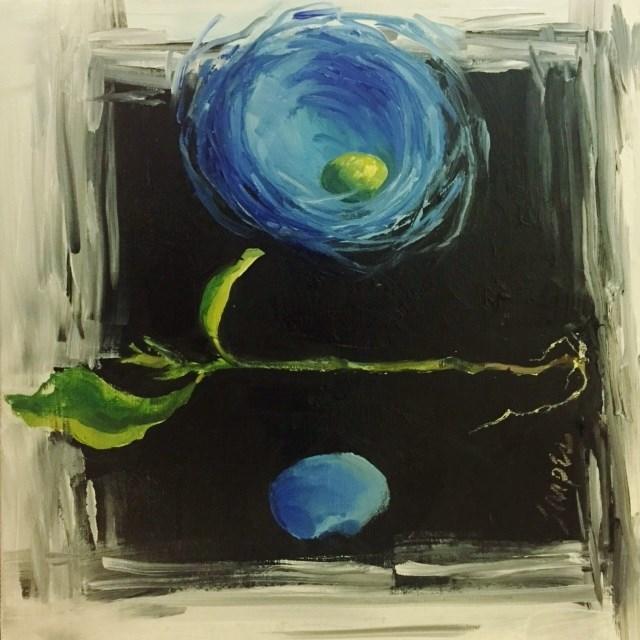 """""""Bird Nest, Day 18"""" original fine art by Connie Snipes"""