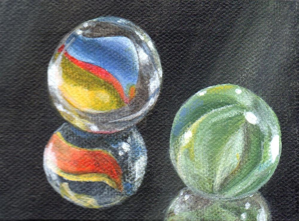 """Heart of Glass"" original fine art by Debbie Shirley"
