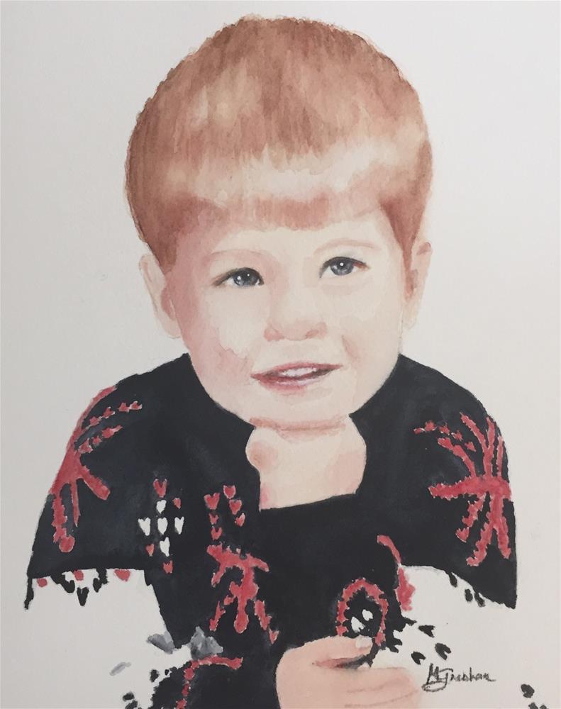 """""""Mark Anthony"""" original fine art by Melissa Gresham"""