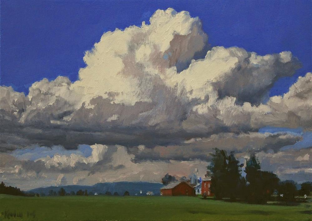 """Large Cloud"" original fine art by Ski Holm"