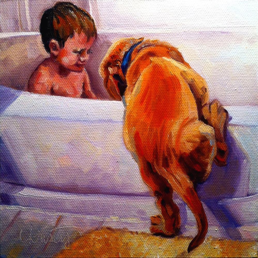 """THE INTRUDER"" original fine art by Kristy Tracy"