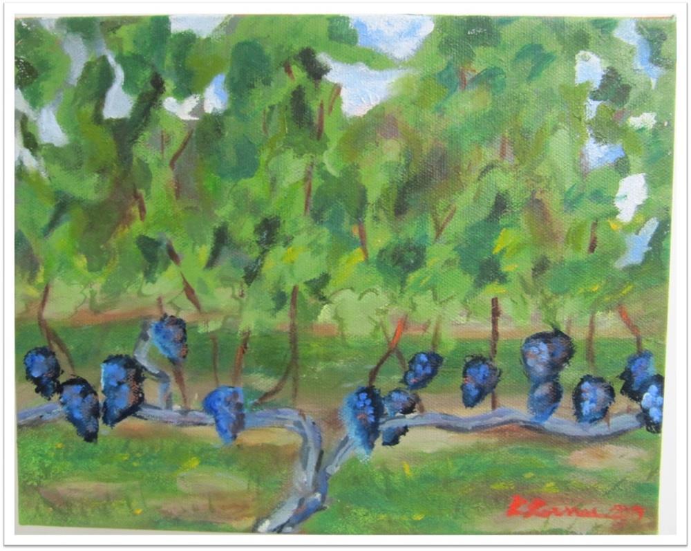 """Vineyard Majestic field 4 2012"" original fine art by Ruth Lerner"
