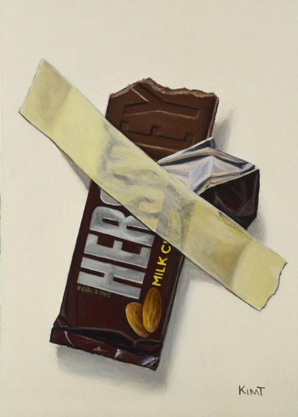 """In Case of Chocolate Emergency 10"" original fine art by Kim Testone"
