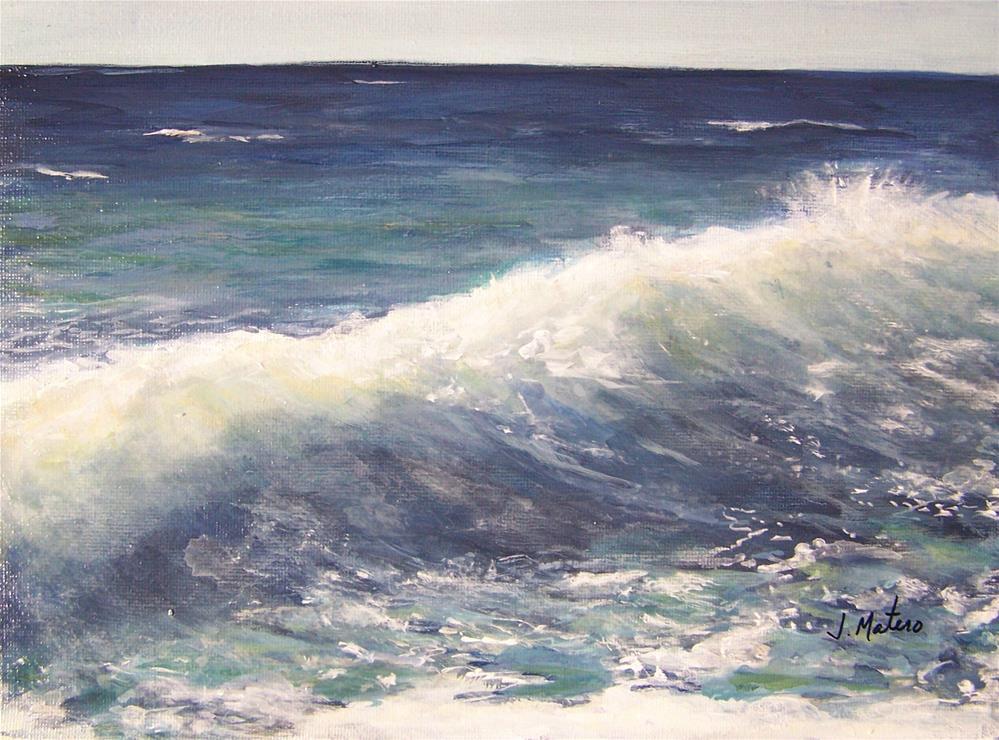 """Wave"" original fine art by Joan Matero"